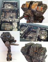 40k warlord titan 2 detail by richardsymonsart