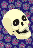 Flower and Skull by hannya-chan