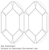Gem Papercraft Blank by Disease-of-Machinery