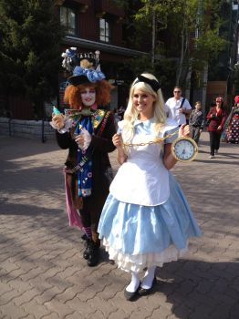 Alice and the Mad Hatter by SmallestFox