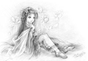 Lilies by Maria-Sandary