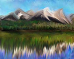 Mountains refliction by lmtcloud