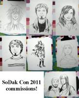 SoDak Con 2011 Commissions by stuffaeamade