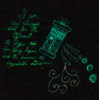 Doctor Who glow in the dark t-shirt by Adriellovesart