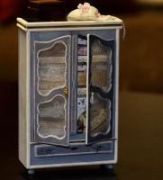 The Blue Armoire - dollhouse miniature by SRKminiature