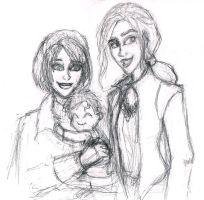 Lily, Harry and Drusilla by MademoiselleMeg
