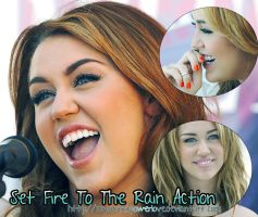 Set fire to the rain Action by MySweetpowerLove