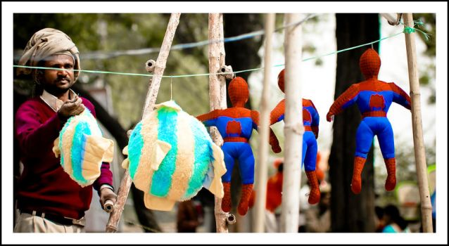 spidermen caught by sanwahi