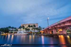 Fort-Lauderdale-New-River-by-the-Pink-Bridge by CaptainKimo
