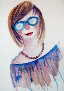 Blue Glasses and Purple Pearls by triba411