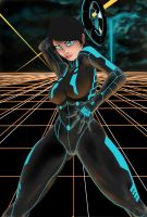 Tron Chick WIP by MeaT-Artworx