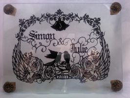 Paper-cutting for my friend by Thessatoria