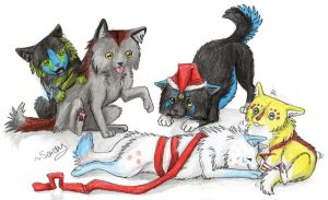Wolf Chibi X-Mas Gift 2012 CLOSE by SaidyWolf