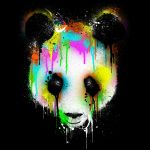 Technicolor Panda Shirts by Design-By-Humans