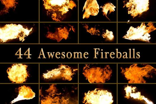 44 Awesome Fireballs of Flame Fire by Archangelical-Stock