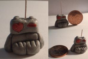 1st - Polymer Clay - Love Bot by missimoinsane