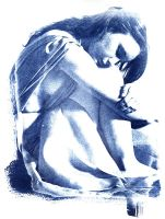 Isis Curled Cyanotype by coldmarble
