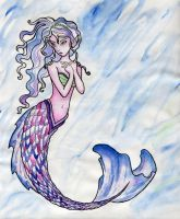 The Mermaid Colored by bummblebird