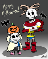 [AT] Undertale Halloween by jclover0577