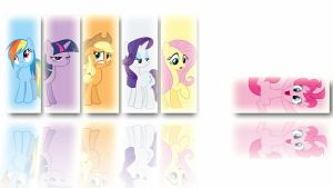 Mane 6 Wallpaper by Ember-Blitz