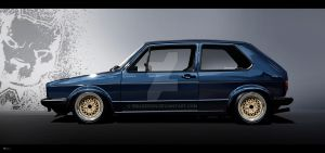 VW golf 1 vexel by RibaDesign