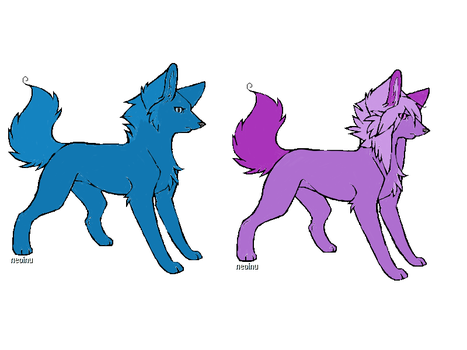 Wolf Adoptables by Smidgeon16
