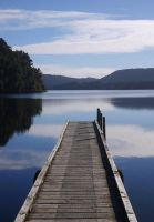 Lake Mapourika. by LiquidityImages