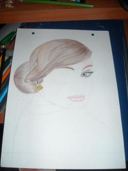 trying to draw Adele ^^ by brokentiers