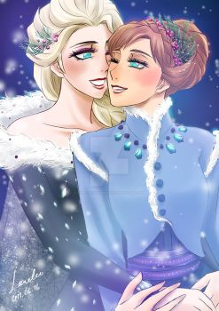 Elsanna New Dresses by LORELEI-LilyPrincess