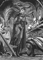 batman in batcave commish by nebezial