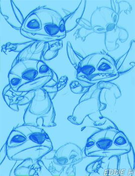 More Stitch Sketches by EddieHolly