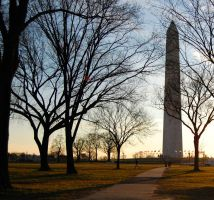 Sunset over the Washington Monument Edit by adamsk8