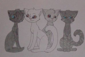 Shadow and Stripe's Young by DuneflowerOwner