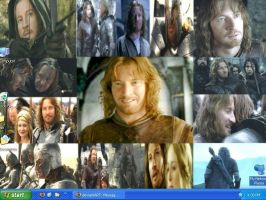 Faramir Collage Desktop by drumgirl