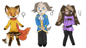 3 Anthro Adopt All Taken by A-Blue-Fire