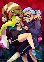 Squid Hell by TamarinFrog