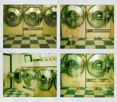 ghost in the laundromat.. by bluecitrusart