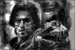 Shahrukh Khan digital sketch by ashishnaik