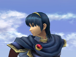 Marth-Close Up by SmashBros2008