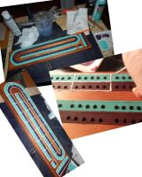 Cribbage Board WIP 3 by kayanah