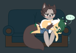 .:Couch Floof Sleepytimes:. by CookieloveX3