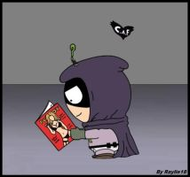 South Park-Mysterion's reading by Raylie18