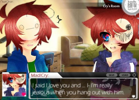 Crycest Fake Novel Screenshot - Mad!Crys Feelings by Nadi-Chan