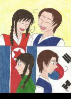 Hetalia-North and South Korea by Ravens-of-Rome