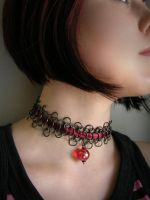 Neck-Lace bloody choker by AIMAccessoirDesign