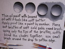 How to paint a waterdrop with oils by ChristopherPollari