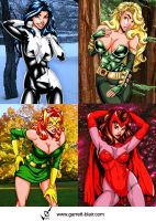 Marvel Girls 4 by gb2k by Mythical-Mommy