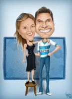 Caricature Couple by Geison