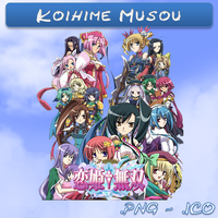 Koihime Musou ICO,PNG and Folder by bryan1213