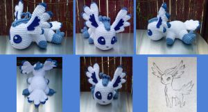Flying Type Eeveelution Amigurumi by bandotaku